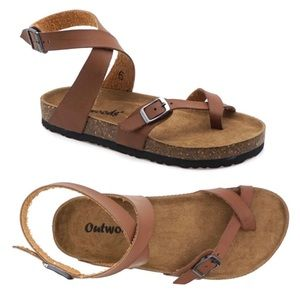 3ede62608be2 OUTWOODS Vegan Leather Strappy Sandals